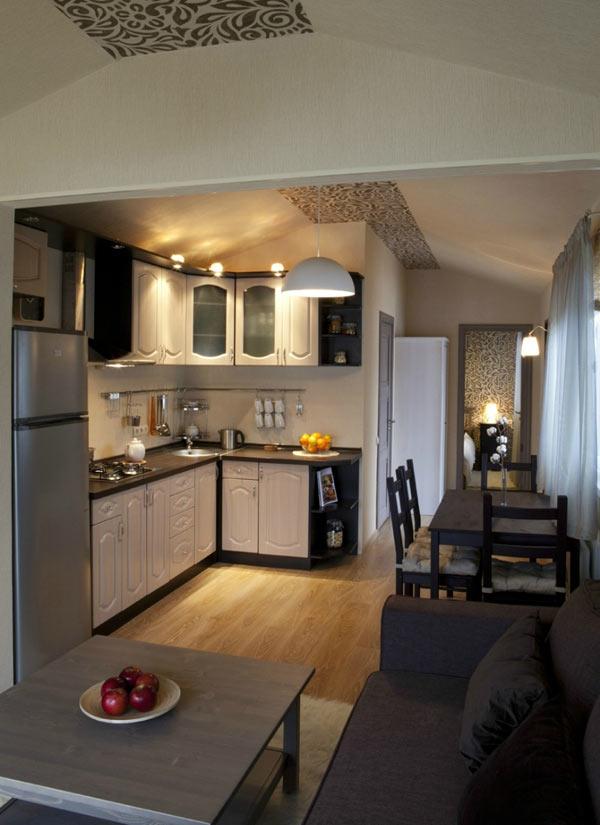 Совмещенная кухня с гостинной