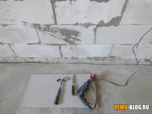 сердцевина в стене
