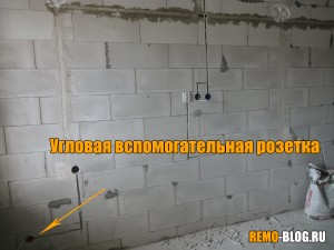 Противоположная стена, вспомогательная розетка