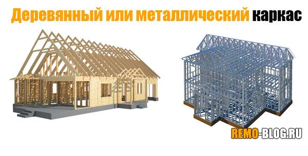 Деревянный или металлический каркас