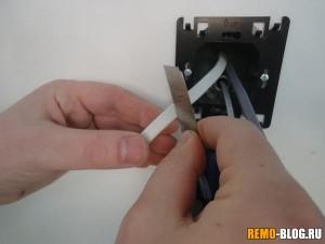 Зачищаем провода