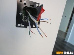 зачищаем основные провода