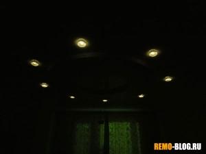 лампы в выключенном состоянии