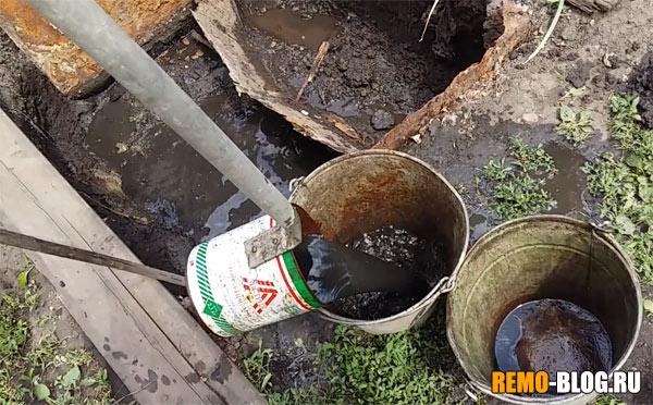 Чистка выгребной ямы