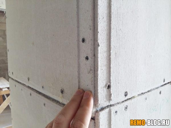 стена из ГВЛ