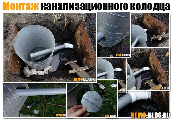 Монтаж канализационного колодца