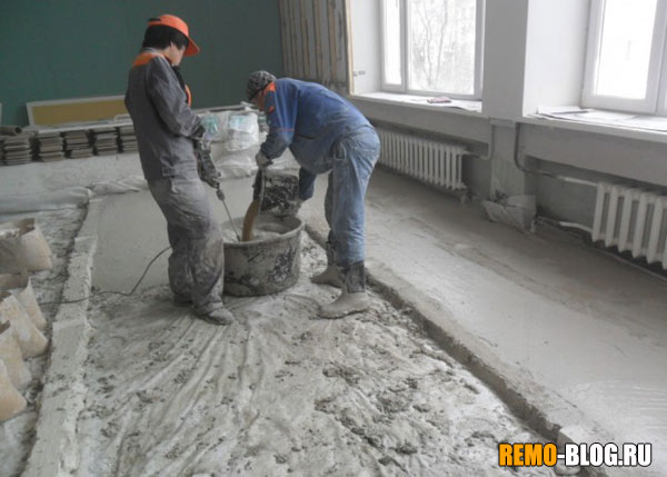 How fit the concrete is 1 square meter