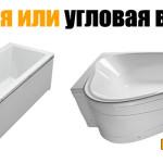 Прямая или угловая ванна