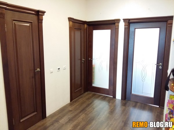 установленные двери
