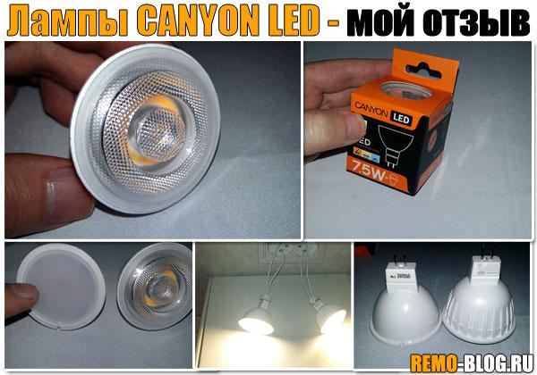 Светодиодные лампы CANYON LED